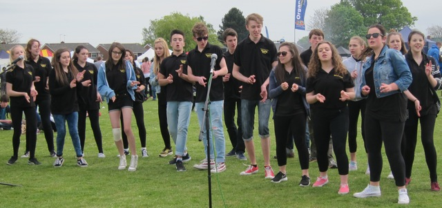 Youngsters from Centrestage Youth Theatre sang and danced with boundless energy.