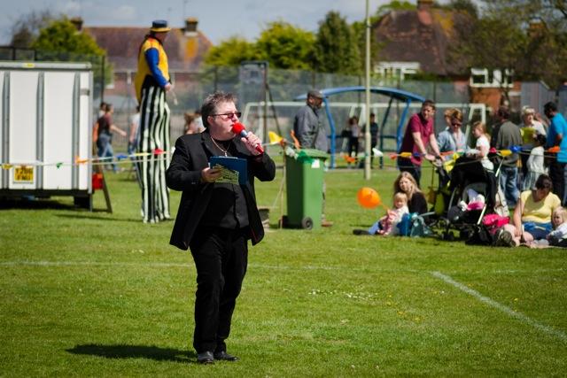 Master of ceremonies. Image: Alan Fry.