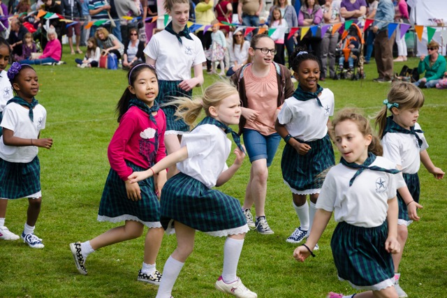 Happy children from Scantabout School. Image: Alan Fry.