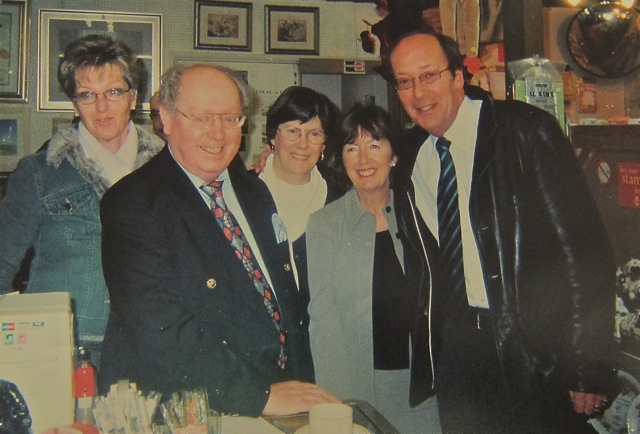 Brian and Suzette were nominated for Good Neighbours award by Pam. With ITV news presenter Fred Dinenage. (From Left: Lindsey, Brian, Suzette, Pam, Fred)