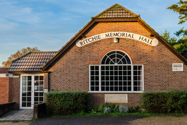 Ritchie Memorial Hall, Hursley Road, Chandler's Ford.