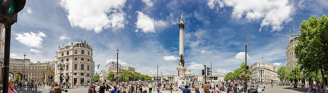 "Trafalgar Square by <a href=""https://www.flickr.com/photos/saad/9498028607"">Saad Akhtar</a> via Flickr."