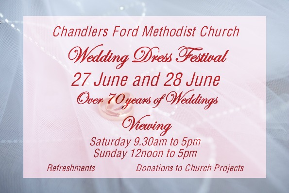 Methodist Church Wedding Festival invitation