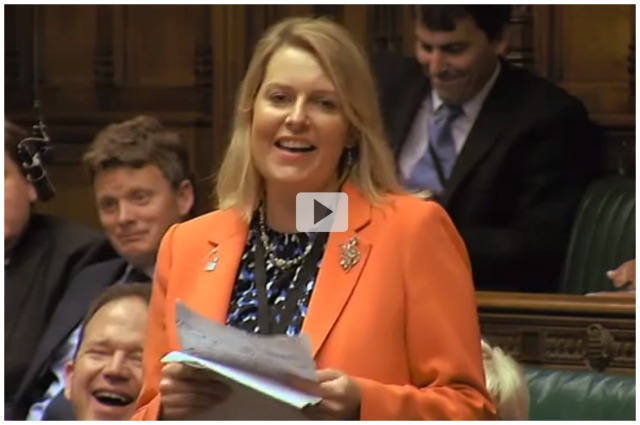 Eastleigh MP Mims Davies made her maiden speech in parliament.