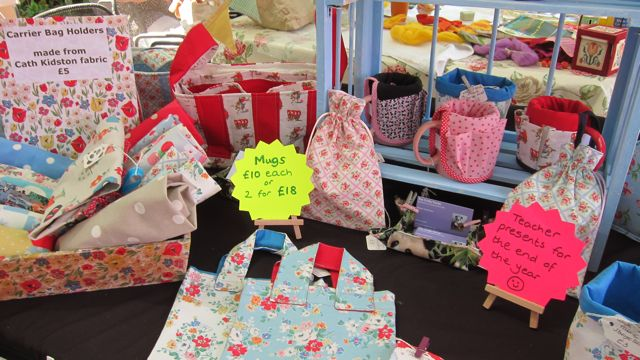 Lovely fabric gifts made by Alison Hackman from The Crafty Panda.