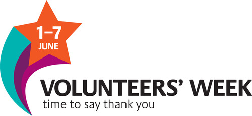 Volunteers' Week time to say thank you poster