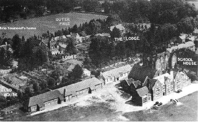 "Aerial view of Peter Symonds' School circa 1946. Image: Kind permission: <a href=""http://petersymondsschoolnostalgiacorner.blogspot.com.au/"">Peter Symonds' School Nostalgia Corner</a>"