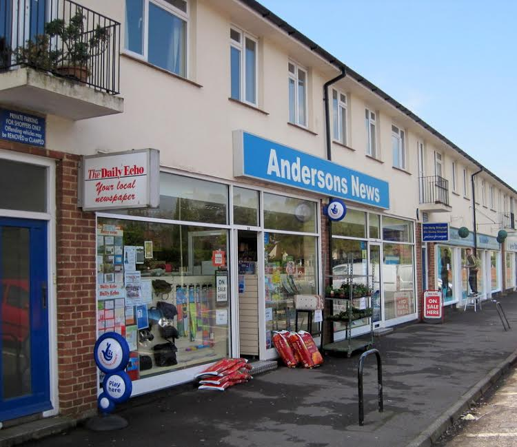 Andersons News on Hiltingbury Road. Image credit: Mike Sedgwick.