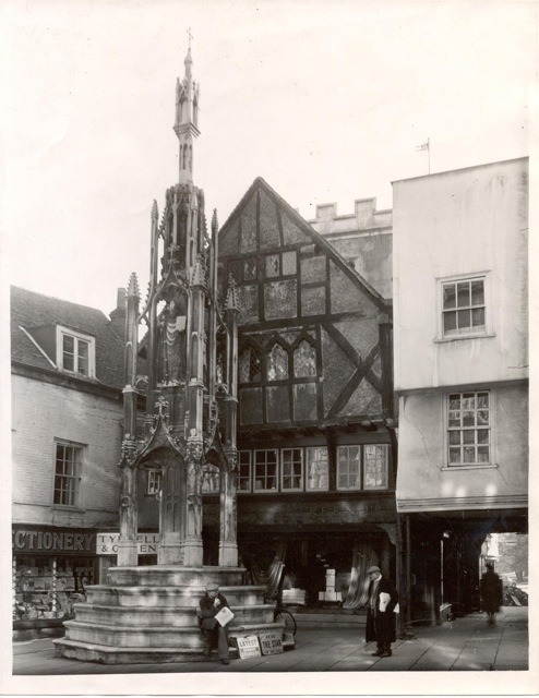 Butter Cross, Winchester with Tyrrell and Green behind c1950, ref 449iv. Image credit: John Lewis