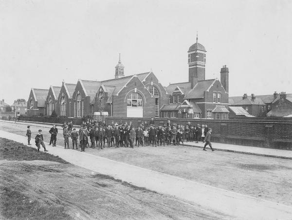"Chamberlayne Road Boys' School, now the Action for Children Sure Start Children's Centre. image credit: <a href=""http://www.eastleighhistory.org.uk/jim1/"">Eastleigh Local History Society</a>"