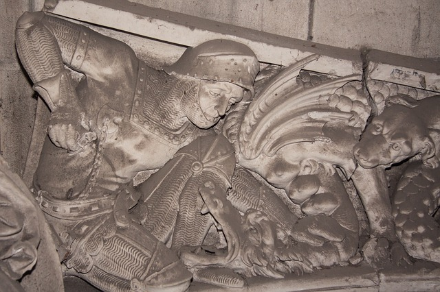 Frieze depicting St. George via Flickr