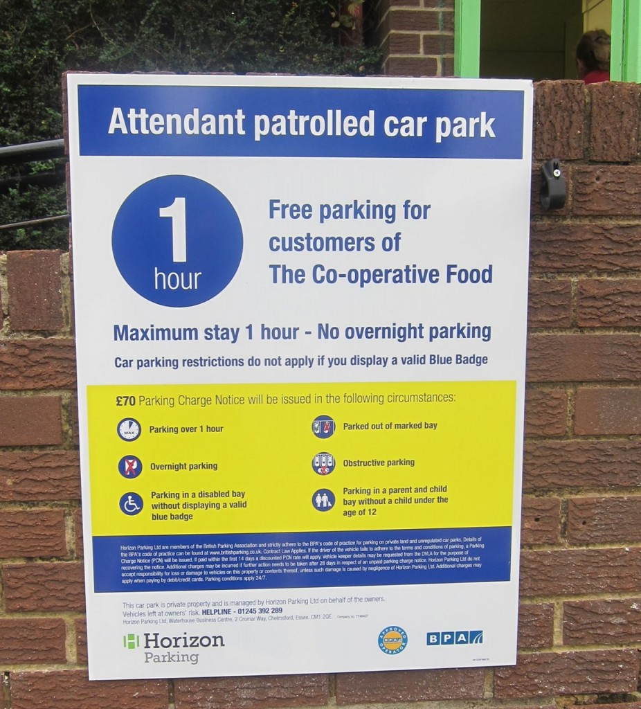 Attendant patrolled car park Co-Op Chandler's Ford