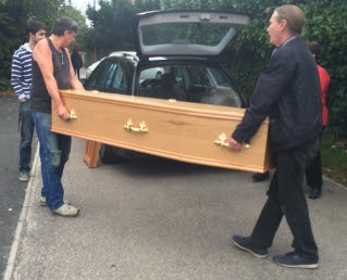 The coffin has arrived for the Chameleon's upcoming production, Dracula.