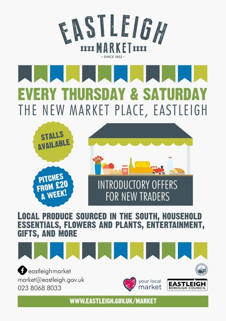 Eastleigh Market: every Thursday and Saturday