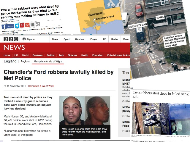 Chandler's Ford on the map: the attempt robbery of HSBC Bank on 13th September 2007.