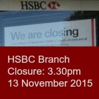 HSBC branch closure (Chandler's Ford Precinct)