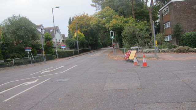 You can't enter Hiltingbury Road from this junction.