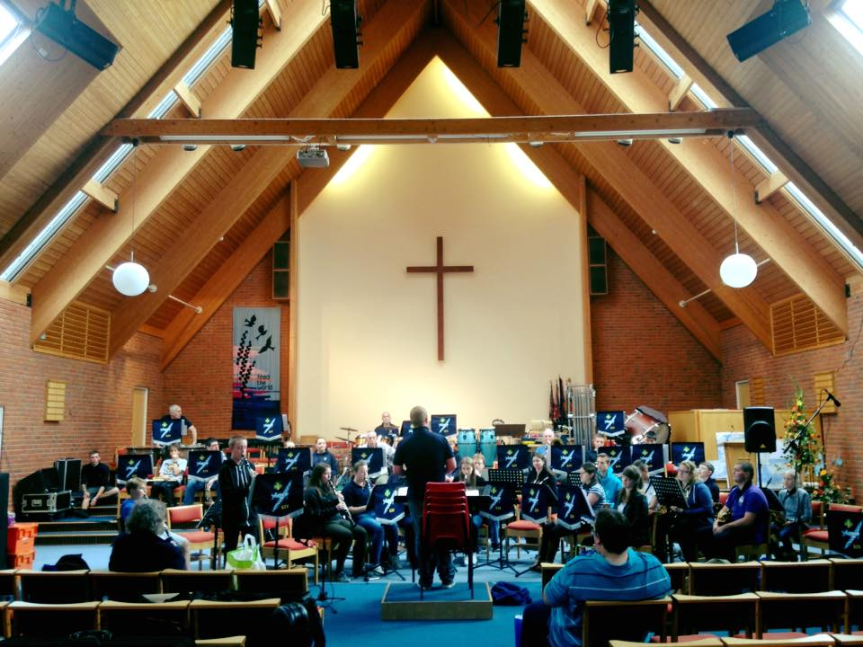 The Spitfires – the 14th Eastleigh Scout and Guide Band performs at the Methodist Church.