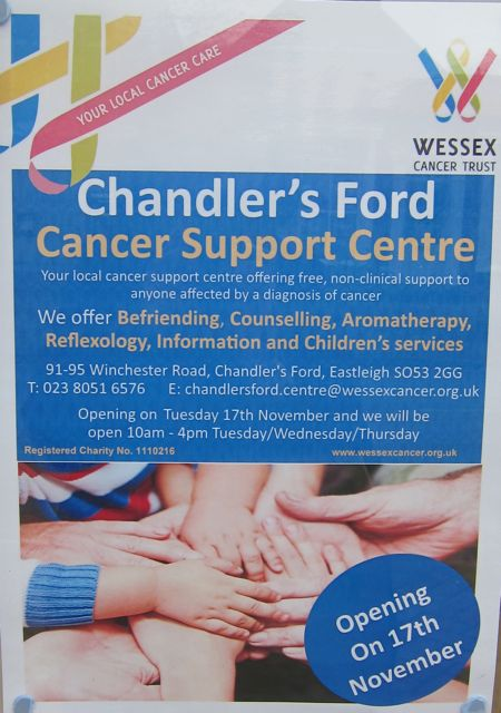 Wessex Cancer Trust Chandler's Support Centre poster