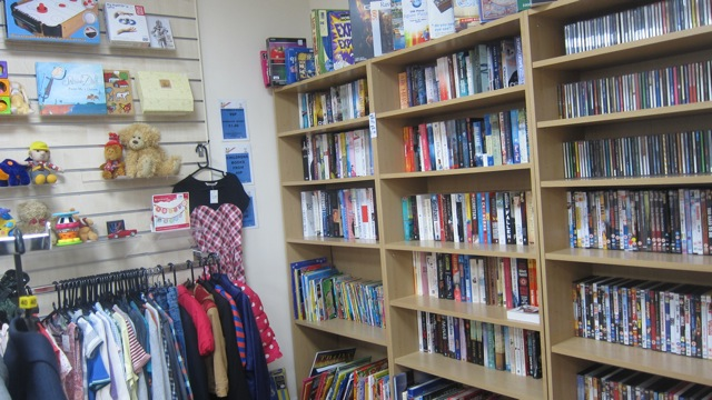 Wessex Cancer Trust new charity shop books and toys
