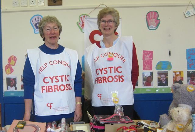 Cystic Fibrosis fundraisers. 42nd Joint Charities Christmas Market November 2015 Chandler's Ford Methodist Church.