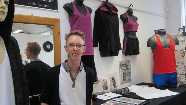 Designer Jason Butler specialises in bespoke bridal and evening wear.
