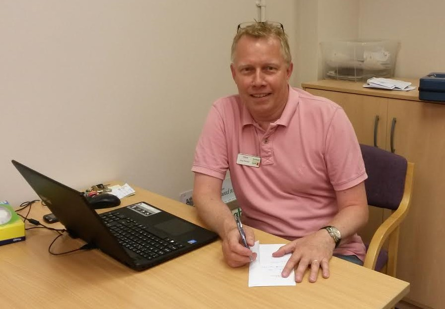 Dom Hooley - stock control and joint shop manager of Eastleigh Basics Bank.