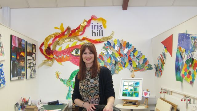 Iris Hill - a fantasyland full of collage, ink and watercolour works.