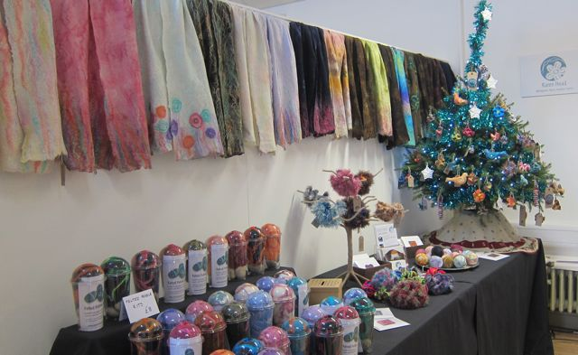 The display of textile  artist Karen Head.