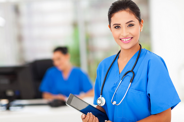 """A nurse. Image by <a href=""""https://www.flickr.com/photos/diabetescare/14358499248/in/dateposted/""""> Diabetes Care</a> via Flickr."""