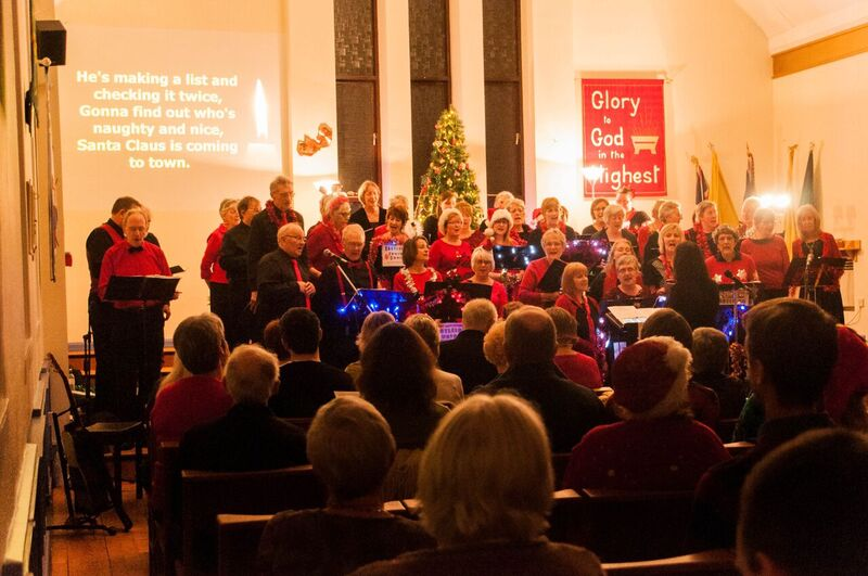 Eastleigh Fusion Choir - Christmas charity concert - performed at Chandler's Ford United Reformed Church.