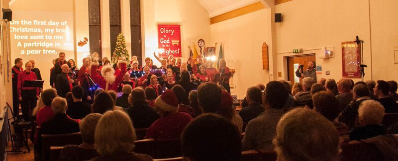 Eastleigh Fusion Choir - performing to a packed house.