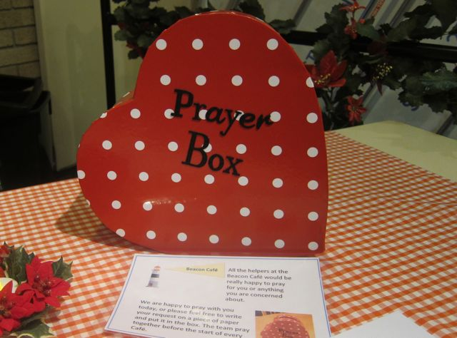 There is also a Prayer Box at the Christmas Beacon Café.