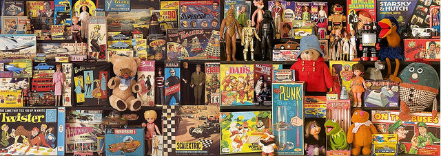 """Toys of Christmas Past image by <a href=""""https://www.flickr.com/photos/brizzlebornandbred/23329938629/in/dateposted/"""">Paul Townsend</a> via Flickr."""