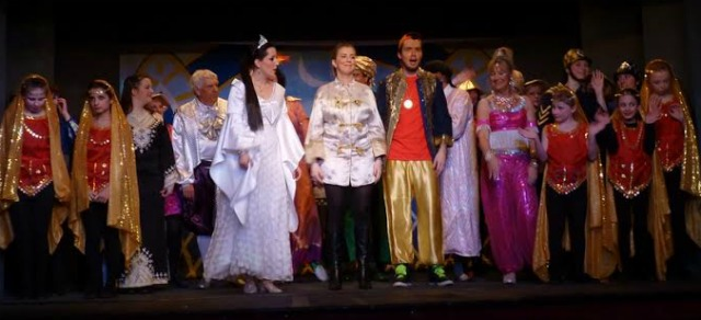Aladdin - pantomime performed by Chandler's Ford Chameleon Theatre Company, January 2016