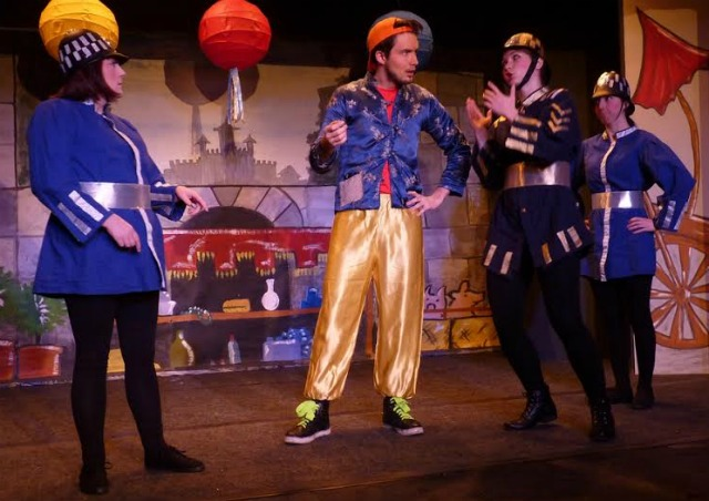 Aladdin - pantomime performed by Chandler's Ford Chameleon Theatre Company, January 2016. Wishee Washee played by Paul Jones.