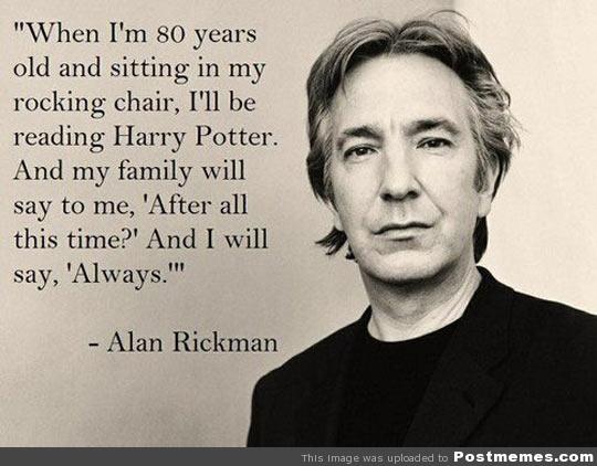 Alan Rickman and Harry Potter via Flicker - Post Memes