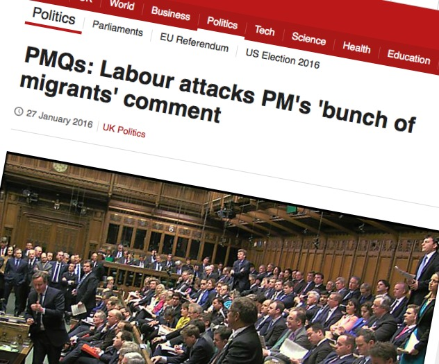 Cameron bunch of migrants comment