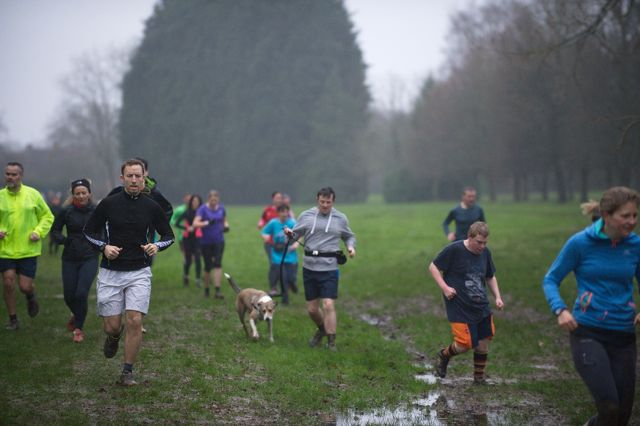 Eastleigh parkrun for everyone and for dogs too. Jan 2016. Image credit: Paul Hammond
