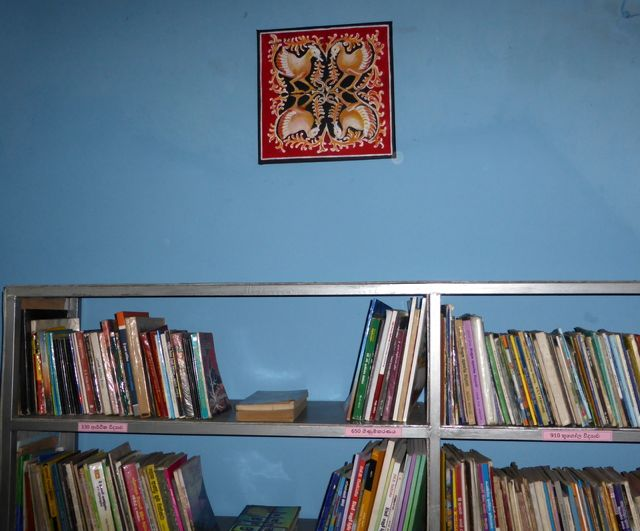 Now the girls in this school in Sri Lanka have a new library.