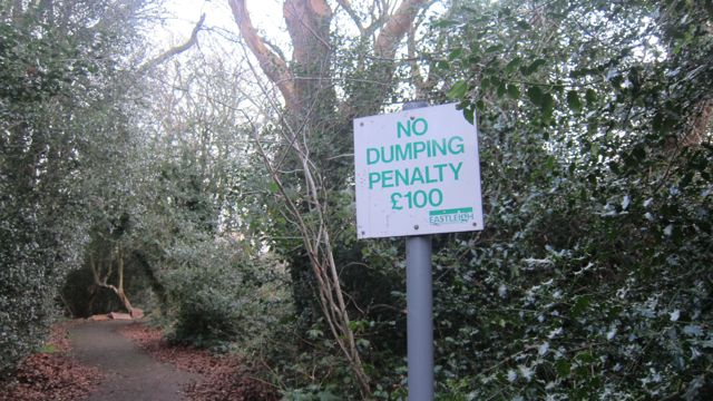 No dumping Chandler's Ford wood