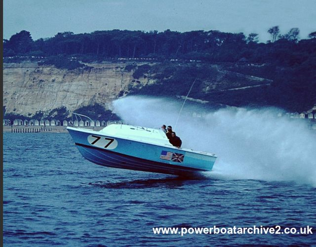 Photographs from Ian & Christian Toll : CI & II : CLAUDIA II (1964) 4. Image via Powerboat Archive, Graham Stevens.