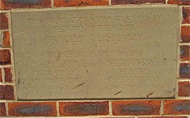 Foundation Stone, Swan Centre, Eastleigh.