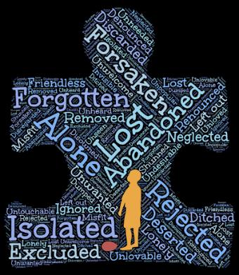 Homeless people must often feel forsaken - image via Pixabay