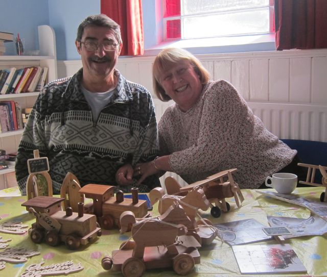 Jeff and Pamela wooden toy
