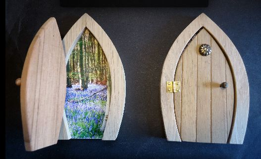 """Jeff's fairy door. Image via <a href=""""http://jeffs-workshop.co.uk/index.htm"""">Jeffs Workshop</a>."""
