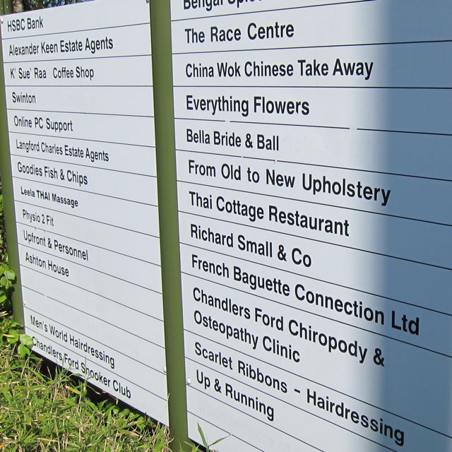 The Central Precinct signboards, 2014.