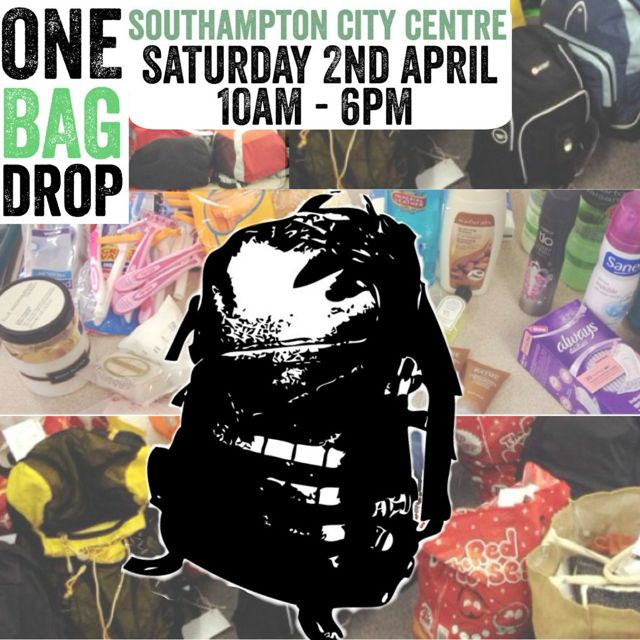 Society of St. James - One Bag Drop Southampton 2nd April 2016