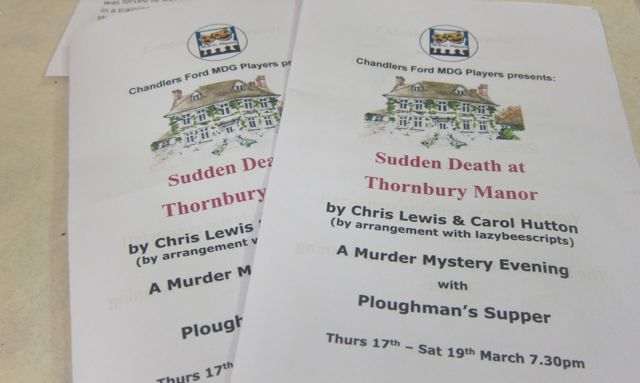 Sudden Death Thornbury Manor MDG Playes Chandler's Ford 2016