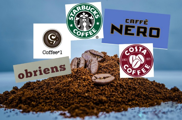 Some of the coffee shops in Eastleigh town centre.
